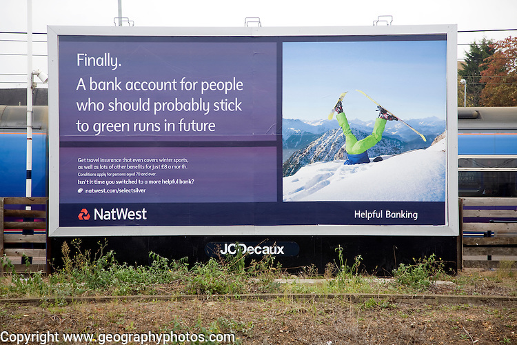 NatWest bank advertising billboard poster
