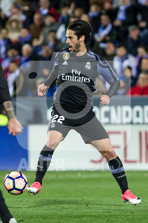 Isco Alarcon of Real Madrid during the match of  La Liga between Club Deportivo Leganes and Real Madrid at Butarque Stadium  in Leganes, Spain. April 05, 2017. (ALTERPHOTOS / Rodrigo Jimenez)