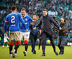 29.12.2019 Celtic v Rangers: Steven Gerrard celebrates with his players at full time
