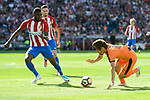 Atletico de Madrid's Thomas Teye and SD Eibar's Takashi Inui during Liga Liga match between Atletico de Madrid and SD Eibar at Vicente Calderon Stadium in Madrid, May 06, 2017. Spain.<br /> (ALTERPHOTOS/BorjaB.Hojas)