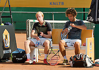 August 13, 2014, Netherlands, Raalte, TV Ramele, Tennis, National Championships, NRTK,  Mens doubles: Sebastiaan Bonapart/Botic van de Zandschulp (L) (NED)<br /> Photo: Tennisimages/Henk Koster