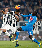 Calcio, Serie A: Juventus Stadium. Torino, Juventus Stadium, 29 ottobre 2016.<br /> Juventus&rsquo; Sami Khedira, left, is challenged by Napoli's  Kalidou Koulibaly during the Italian Serie A football match between Juventus and Napoli at Turin's Juventus Stadium, 29 October 2016. Juventus won 2-1.<br /> UPDATE IMAGES PRESS/Isabella Bonotto