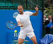 June 15th 2017, Nottingham, England; ATP Aegon Nottingham Open Tennis Tournament day 6;  Marius Copil of Roumania in action in his second round match against Reilly Opelka of USA