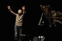 CONCERTO STEFANO BOLLANI NELLA FOTO STEFANO BOLLANI DURANTE IL CONCERTO IN OCCASIONE DELL'INAUGURAZIONE DEL TEATRO DELLE ALI SPETTACOLI BRENO 13/10/2011 FOTO MATTEO BIATTA<br /> <br /> CONCERT BY STEFANO BOLLANI IN THE PICTURE STEFANO BOLLANI DURING THE CONCERT FOR THE INAUGRATION OF TEATRO DELLE ALI SHOW BRENO 13/10/2011 PHOTO BY MATTEO BIATTA