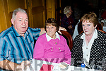 Dan McGlynn from Castleisland keeps his arm around his mother Margaret, with Maureen Troy, at the September Tea Dance in the Riverisland hotel, Castleisland last Sunday organised by the Sliabh Luachru active retirement group. Margaret will be 94 on the 17th of this month.