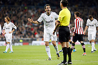 Real Madrid CF vs Athletic Club de Bilbao (5-1) at Santiago Bernabeu stadium. The picture shows Albaro Arbeloa. November 17, 2012. (ALTERPHOTOS/Caro Marin) NortePhoto