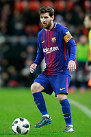 FC Barcelona's Leo Messi during Spanish King's Cup Semi Final 2nd match. February 8,2018.  *** Local Caption *** © pixathlon<br /> Contact: +49-40-22 63 02 60 , info@pixathlon.de