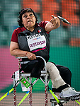 Lima, Peru -  24/August/2019 -  Martha Gustafson competes in the women's discus F53 final at the Parapan Am Games in Lima, Peru. Photo: Dave Holland/Canadian Paralympic Committee.