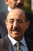 Sheikh Sabah Al Ahmed Al Sabah, acting Prime Minister of Kuwait, meets reporters at the White House after his talks with U.S. President George W. Bush in the Oval Office of the White House in Washington, DC on November 7, 2001.<br /> Credit: Ron Sachs / CNP