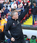 Chris Wilder manager of Sheffield Utd during the English championship league match at Bramall Lane Stadium, Sheffield. Picture date 5th August 2017. Picture credit should read: Jamie Tyerman/Sportimage