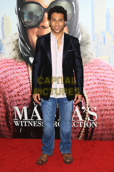 "Corbin Bleu.The Premiere of ""Madea's Witness Protection"" held at AMC Loews Lincoln Square Cinemas, New York, NY., USA..June 25th, 2012.full length black jacket white shirt jeans denim.CAP/LNC/TOM.©LNC/Capital Pictures."