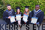 William O'Carroll (Ballymacelligott), Carmel Drumm Boherbue, Jillian Carroll (Tralee), Adewale Obadina (Nigeria/Tralee).At the Institute of Technology Tralee at the Autumn Confirming of Awards Ceremony at the Brandon Hotel on Friday