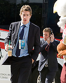 Kevin Hayes (BC - 12), Bill Arnold (BC - 24) - The Boston College Eagles were greeted by fans along the red carpet entrance to the arena prior to the final. The Boston College Eagles defeated the Ferris State University Bulldogs 4-1 (EN) in the 2012 Frozen Four final to win the national championship on Saturday, April 7, 2012, at the Tampa Bay Times Forum in Tampa, Florida.