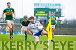 Stephen O'Brien Kerry in action against Dessie Mone Monaghan during the Allianz Football League Division 1 Round 5 match between Kerry and Monaghan at Fitzgerald Stadium in Killarney, on Sunday.