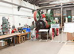 The Long Shop museum, Leiston, Suffolk, England, UK Garrett portable steam engine