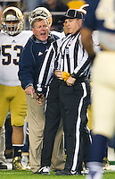 Brian Kelly argues the targeting penalty.