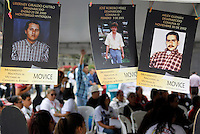 Relatives of missing people and others affected by the Colombian conflict commemorates the International Day of the people disappeared on August 30, 2016. in Medellin, Colombia. Photo by VIEWpress