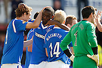 Maurice Edu is congratulated on his goal
