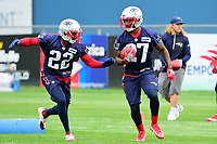 June 7, 2017: New England Patriots defensive back Justin Coleman (22) and defensive back Dwayne Thomas (27) work on a ball safety drill at the New England Patriots mini camp held on the practice field at Gillette Stadium, in Foxborough, Massachusetts. Eric Canha/CSM