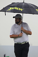 Shane Lowry (IRL) on the 2nd tee during Thursday's Round 1 of the 2014 BMW Masters held at Lake Malaren, Shanghai, China 30th October 2014.<br /> Picture: Eoin Clarke www.golffile.ie