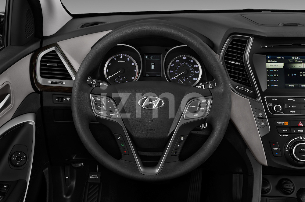 Car pictures of steering wheel view of a 2017 Hyundai Santa-Fe Sport 5 Door SUV Steering Wheel