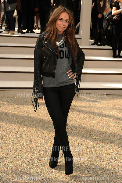 Chloe Green arriving for the Burberry fashion show as part of London Fashion Week at the Chelsea College of Art and Design, London.  22/09/2010  Picture by: Steve Vas / Featureflash