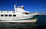 Passenger ferry boat Catamaran Bahia service arriving at Cadiz, Cadiz province, Spain