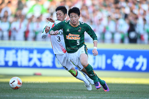 Kai Sasaki (), <br /> JANUARY 5, 2017 - Football / Soccer : <br /> 95th All Japan High School Soccer Tournament Quater Final between Shochi Fukaya 1-3 Aomori Yamada<br /> at Kawasaki Todoroki Stadium, Kanagawa, Japan.<br /> (Photo by AFLO SPORT)