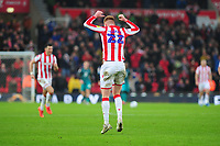 Sam Clucas of Stoke City celebrates scoring the opening goal during the Sky Bet Championship match between Stoke City and Swansea City at the Bet 365 Stadium in Stoke-on-Trent, England, UK. Saturday 25 January 2020