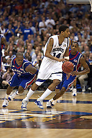 SAN ANTONIO, TX - APRIL 7, 2008: The University of Kansas Jayhawks face the University of Memphis Tigers in the NCAA Men's Basketball Final Four National Championship game at the Alamodome. (Photo by Jeff Huehn)