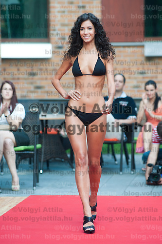 Edina Siha a participant of the Beauty Queen contest attends a bikini tour in Hotel Abacus, Herceghalom, Hungary on July 07, 2011. ATTILA VOLGYI