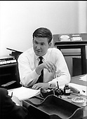 "Patrick J. ""Pat"" Buchanan, Special Assistant to United States President Richard M. Nixon in his office in Washington, D.C. on June 12, 1969..Credit: White House via CNP"