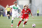 VfL Wolfsburg's Ramona Bachmann (l) and Olympique Lyonnais's Amandine Henry during UEFA Women's Champions League 2015/2016 Final match.May 26,2016. (ALTERPHOTOS/Acero)
