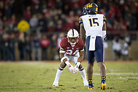 STANFORD, CA - November 18, 2017: Quenton Meeks at Stanford Stadium. The Stanford Cardinal defeated Cal 17-14 to win its eighth straight Big Game.