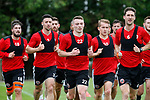 Sheffield Utd Caolan Lavery and Chris Basham on training runs during the training session at the Shirecliffe Training complex, Sheffield. Picture date: June 27th 2017. Pic credit should read: Simon Bellis/Sportimage