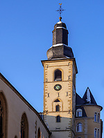 Katholische Michaelskirche, Rue Sigefroi, Luxemburg-City, Luxemburg, Europa, UNESCO-Weltkulturerbe<br /> St. Michael, Rue Sigefroi, Luxembourg City, Europe, UNESCO Heritage Site