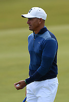 Surfer Kelly Slater looks on during Round 3 of the 2015 Alfred Dunhill Links Championship at the Old Course, St Andrews, in Fife, Scotland on 3/10/15.<br /> Picture: Richard Martin-Roberts | Golffile