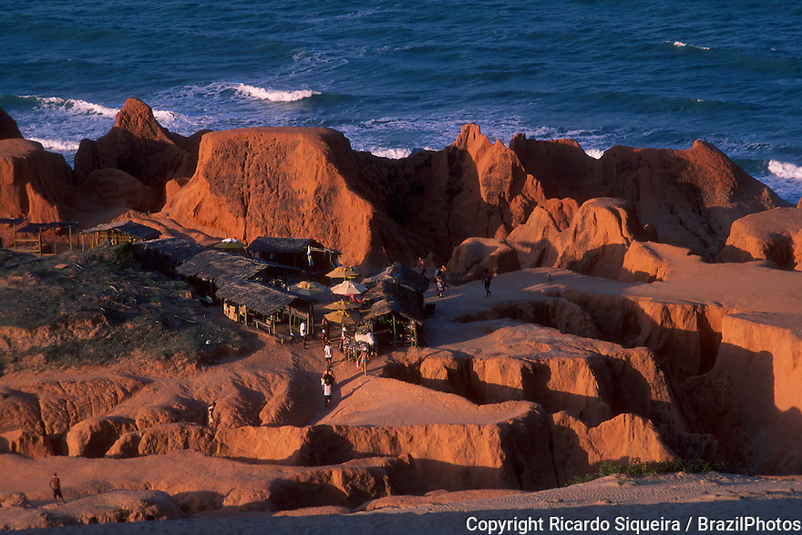 Morro Branco beach - labyrinths formed by erosion on multi-colored cliffs, Beberibe minicipality, Ceara State, Northeastern Brazil.