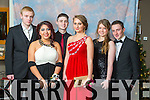 Jordan Taylor, Nena Duggan,  Kyle Bustard, Raminta Kaletkaite, Rosie Wheeler, Lucas Cronin at the Mercy Mounthawk Students' Debs Ball in the Ballyroe Heights Hotel on Saturday night.