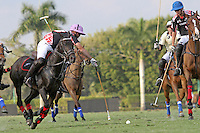 WELLINGTON, FL - FEBRUARY 05:  Facundo Pieres #3 of Orchard Hill takes control of the ball, during one of the early matches of the Ylvisaker Cup at the International Polo Club Palm Beach on February 05, 2017 in Wellington, Florida. (Photo by Liz Lamont/Eclipse Sportswire/Getty Images)