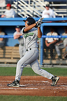 June 25th 2008:  Infielder Mike Pasek of the Jamestown Jammers, Class-A affiliate of the Florida Marlins, during a game at Dwyer Stadium in Batavia, NY.  Photo by:  Mike Janes/Four Seam Images
