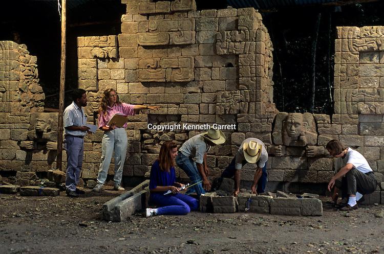 Maya; Copan;  Honduras; archaeology; Classic period;South Acropolis, Will Andrews, Tulane University, Barbara Fash, Rudy Larios