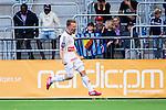 Stockholm 2014-04-27 Fotboll Allsvenskan Djurg&aring;rdens IF - IF Brommapojkarna :  <br /> Brommapojkarnas Jacob Une Larsson jublar efter att ha kvitterat till 2-2 i den andra halvleken<br /> (Foto: Kenta J&ouml;nsson) Nyckelord:  Djurg&aring;rden DIF Tele2 Arena Brommapojkarna BP jubel gl&auml;dje lycka glad happy