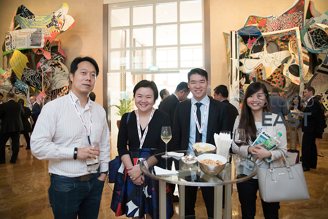 Cocktail reception during the 9th Annual Southeast Asia Institutional Investment Forum, at the Ritz-Carlton Millenia, Singapore, Singapore, on 6 December 2017. Photo by Steven Lui