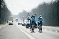 De Ronde van Vlaanderen 2016 recon with Team SKY: Michal Kwiatkowski (POL/SKY) & Michal Golas (POL/SKY) up front