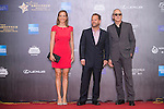 Art Marcum and his companion Jenny, and Michael Shamberg walk the Red Carpet event at the World Celebrity Pro-Am 2016 Mission Hills China Golf Tournament on 20 October 2016, in Haikou, China. Photo by Marcio Machado / Power Sport Images