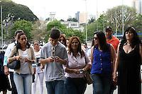 SAO PAULO, SP, 16 DE SETEMBRO DE 2013 -  CASO BIANCA CONSOLI. Novo julgamento do motoboy Sandro Dota (42), acusado de estuprar e matar a ex-cunhada, Bianca Consoli, quando ela tinha 19 anos, em 2011. Após o júri ter sido cancelado no mês passado, começa nesta segunda-feira (16), o novo julgamento, agora com acusado na condição de réu confesso, no Fórum Criminal Ministro Mário Guimarães – Barra Funda – zona oeste da Capital. FOTO: MAURICIO CAMARGO / BRAZIL PHOTO PRESS.