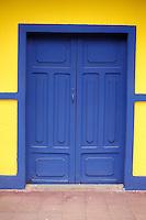Door of restored house in the town of Moyogalpa, Isla de Ometepe, Nicaragua