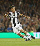 Juventus' Paulo Dybala in action during the Champions League Final match at the Principality Stadium, Cardiff. Picture date: June 3rd, 2017. Pic credit should read: David Klein/Sportimage
