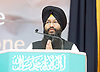 Sikh representative leads prayer at the Baitul Futuh Mosque, at an event to commemorate the establishment of The Ahmadiyya Caliphate, a non-political caliphate established on May 27, 1908. &nbsp;<br /> <br /> Following on from the tragic events in Manchester, Ed discussed the events in Manchester and reasserted the importance of traditional liberal values in defeating extremism.&nbsp;<br /> <br /> 27th May 2017 <br /> at the Baitul Futuh Mosque, Morden, Surrey <br /> <br /> <br /> Photograph by Elliott Franks <br /> Image licensed to Elliott Franks Photography Services